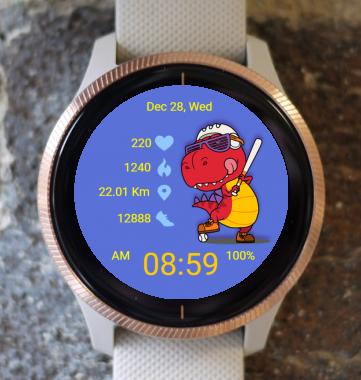 Garmin Watch Face - Dinosaur Win