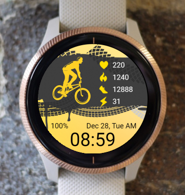 Garmin Watch Face - Sport Bicycle 04