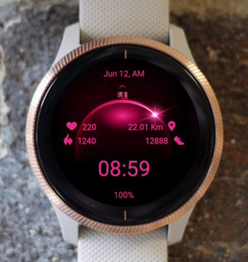 Garmin Watch Face - Pink Eclipse