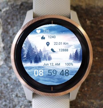 Garmin Watch Face - Winter Nature