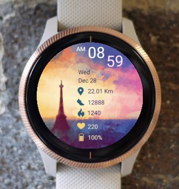Garmin Watch Face - City - Paris 02