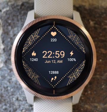 Garmin Watch Face - Dark Square