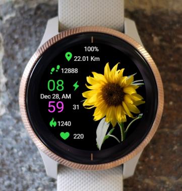 Garmin Watch Face - Sunflower Life