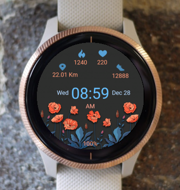 Garmin Watch Face - Spring Mood 2