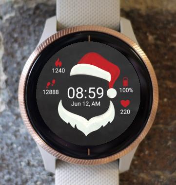 Garmin Watch Face - Santa Claus Hat G