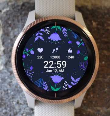 Garmin Watch Face - Night Floral G