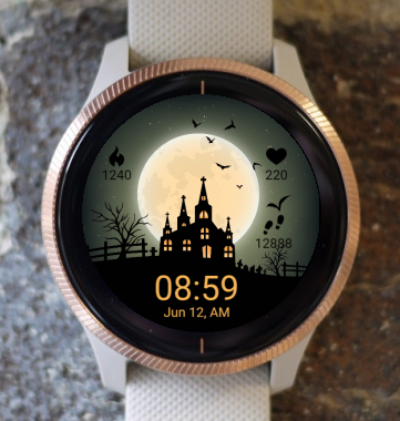 Garmin Watch Face - Halloween Castle G