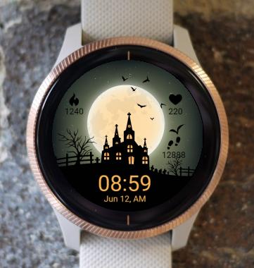 Garmin Watch Face - Halloween Castle G