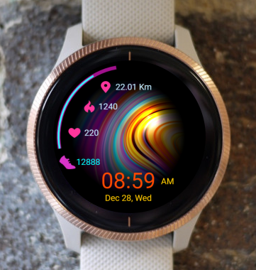 Garmin Watch Face - Color Waves