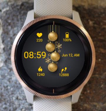 Garmin Watch Face - Golden Light