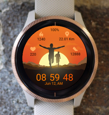 Garmin Watch Face - Run 07
