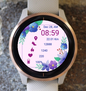Garmin Watch Face - Spring Greeting