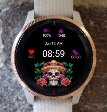 Garmin Watch Face - Dia Muertos 06