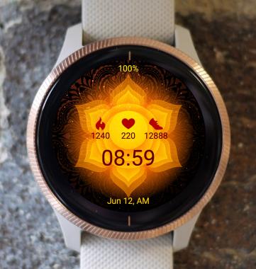 Garmin Watch Face - Mandala C18