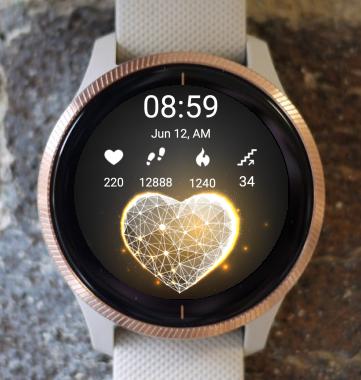 Garmin Watch Face - Diamond Heart