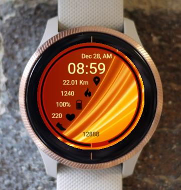 Garmin Watch Face - Waves RR 3