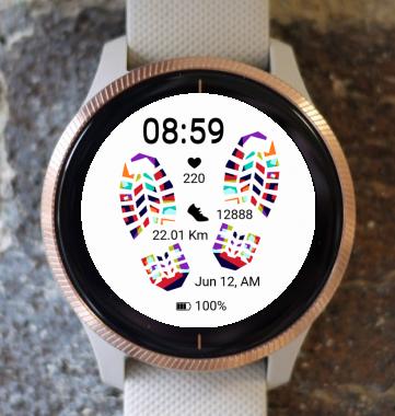 Garmin Watch Face - Rainbowprint