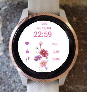 Garmin Watch Face - Bouquet