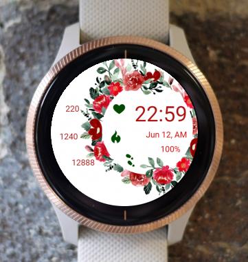 Garmin Watch Face - Rose