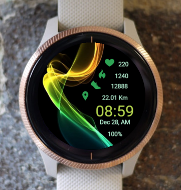 Garmin Watch Face - Etheric Waves