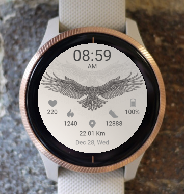 Garmin Watch Face - Bird 04