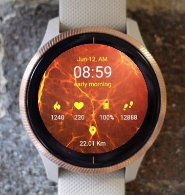 Garmin Watch Face - Fire