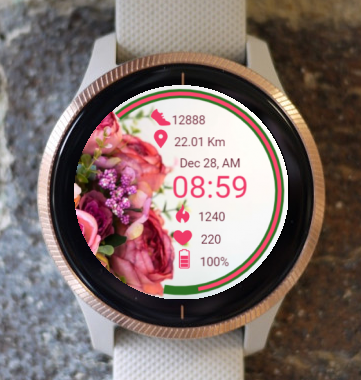 Garmin Watch Face - RR Bouquet