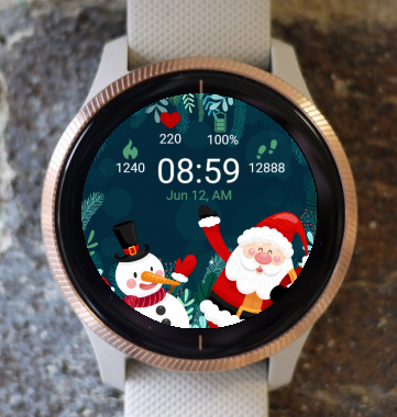 Garmin Watch Face - Santa Clause and Snowman G