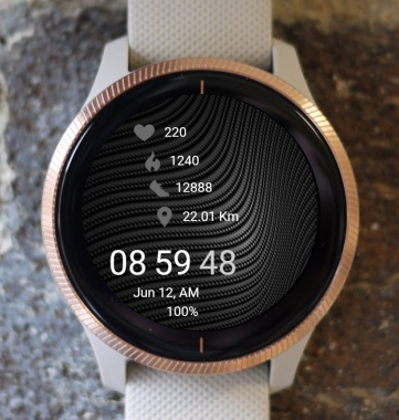 Garmin Watch Face - B Wave