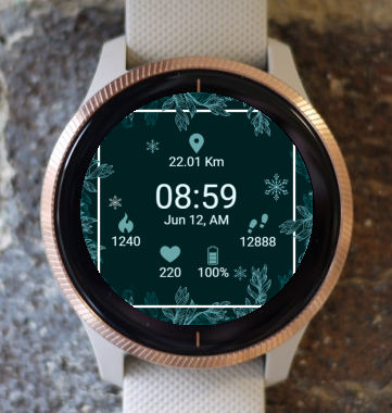Garmin Watch Face - Christmas Snow G