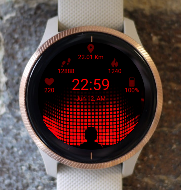 Garmin Watch Face - BW D102