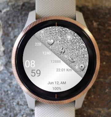 Garmin Watch Face - Silver New Year