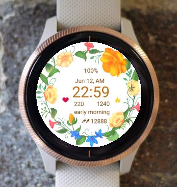 Garmin Watch Face - Flower Fair 18
