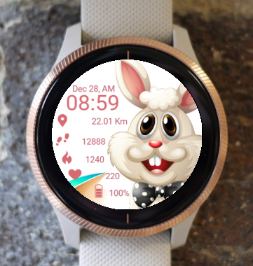 Garmin Watch Face - Laughing Bunny