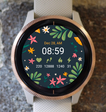 Garmin Watch Face - Floral Dream G