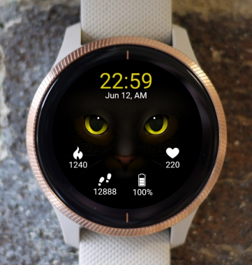 Garmin Watch Face - Cat Eyes