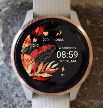 Garmin Watch Face - Flower Art G