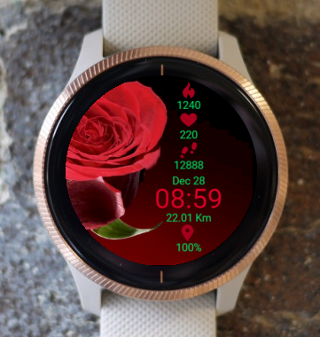 Garmin Watch Face - Confession With Rose