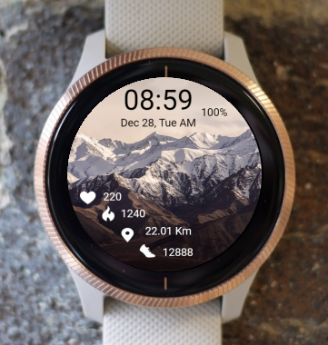 Garmin Watch Face - Mountain 07