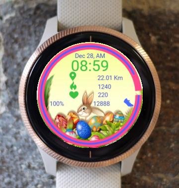 Garmin Watch Face - Bunny Happy