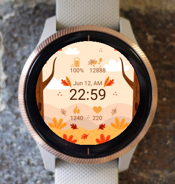 Garmin Watch Face - Autumn Flower G