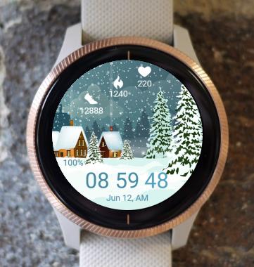 Garmin Watch Face - Winter Night