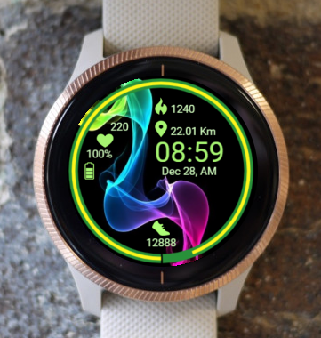 Garmin Watch Face - Waves RR 1