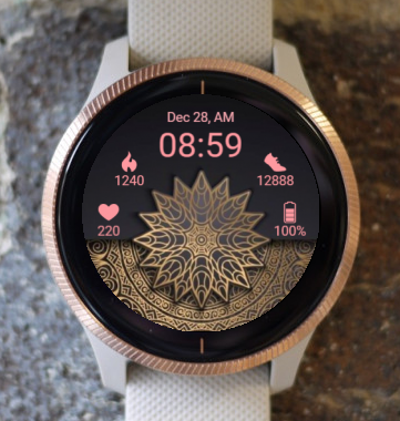 Garmin Watch Face - Mandala Roz 5