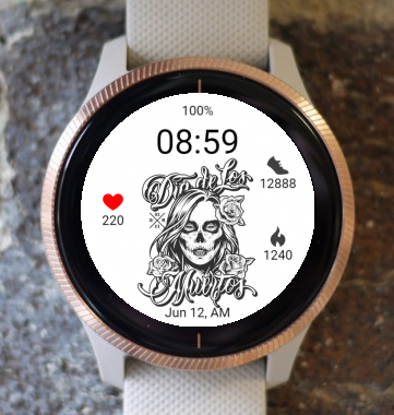Garmin Watch Face - Dia Muertos 01