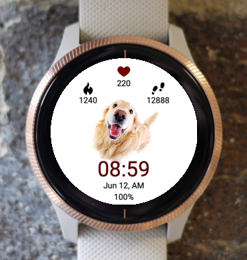 Garmin Watch Face - Puppy Say