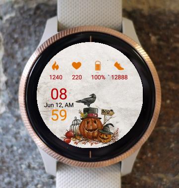 Garmin Watch Face - Pumpkin Out