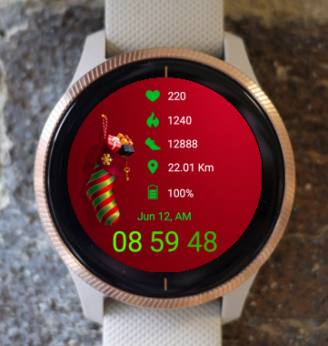 Garmin Watch Face - Christmas Present