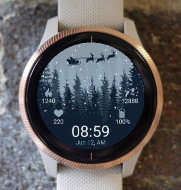 Garmin Watch Face - Santa Claus Forest G