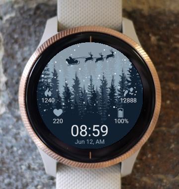 Garmin Watch Face - Santa Claus Forest G